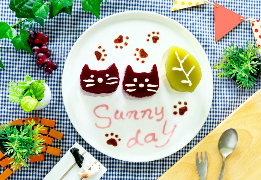 ネコのムースケーキ